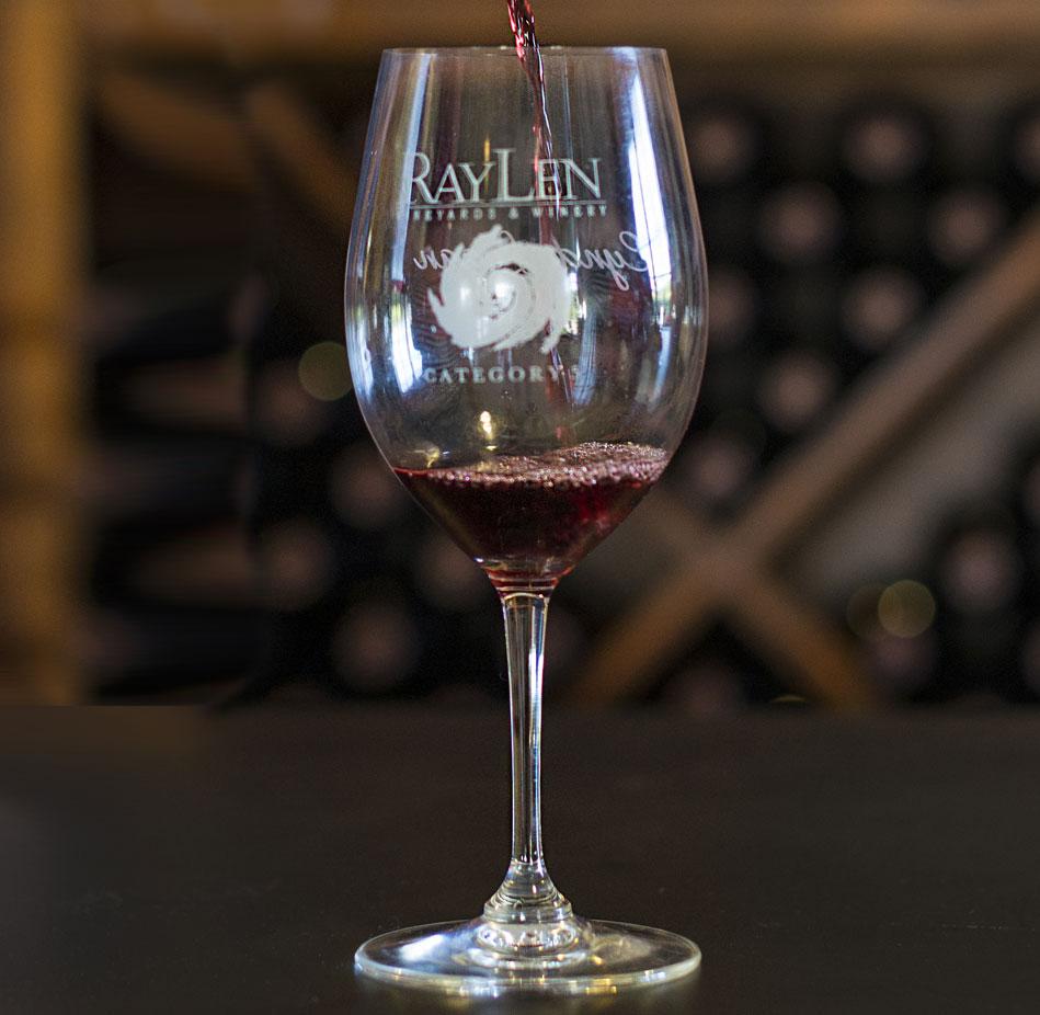 complimentary wine glass