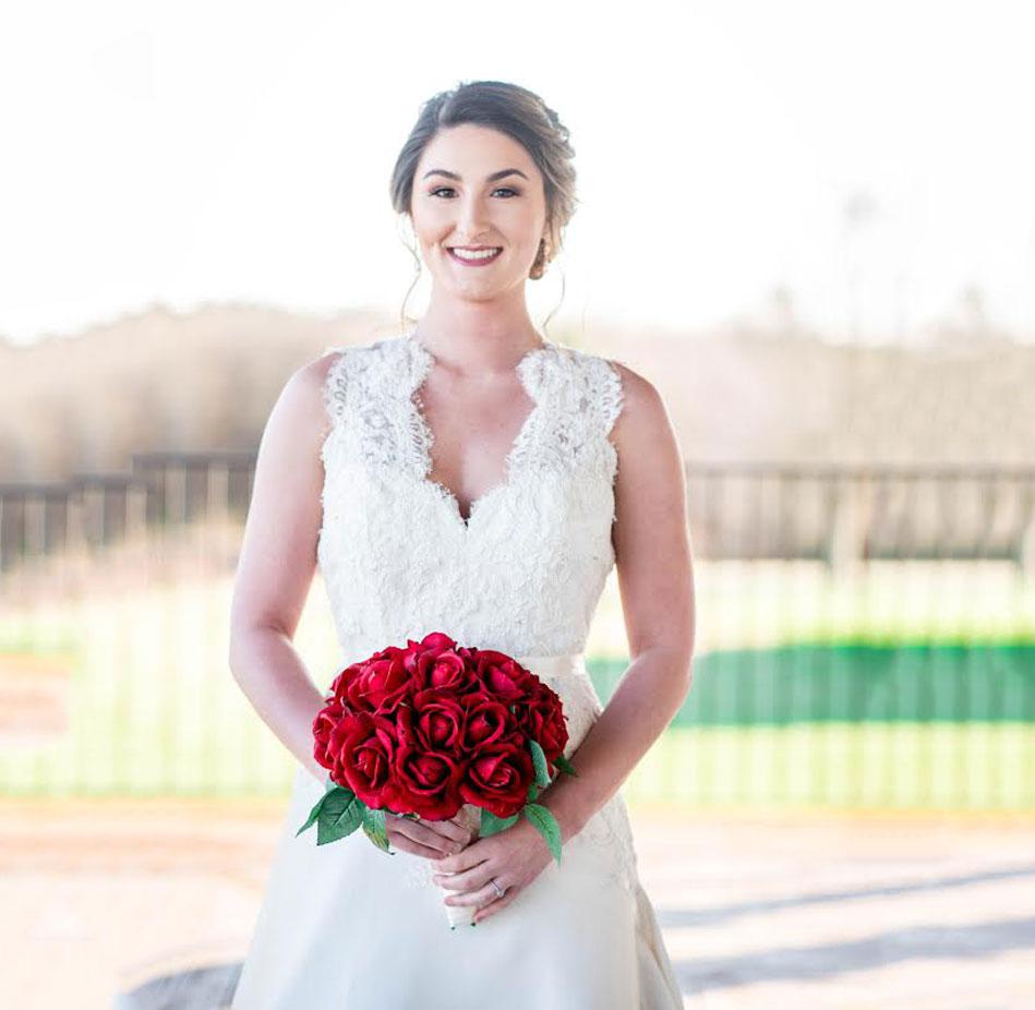 bride at winery